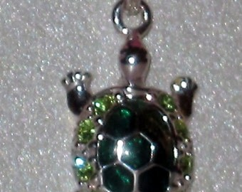 Sterling Silver Pendant Necklace -- Turtle-w/ Chain