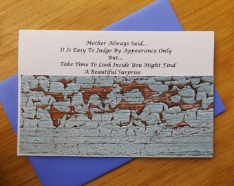 Mother Always Said Handmade Greeting Card