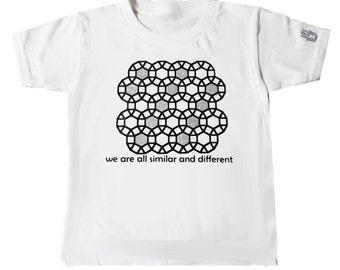 Size 2T White Tessellations 2 T Shirt