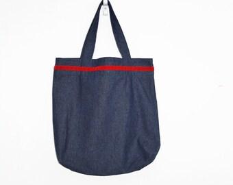 Lightweight Denim shopping bag