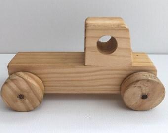 Handmade wooden toy car