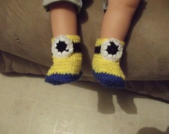 Crochet Minion Booties