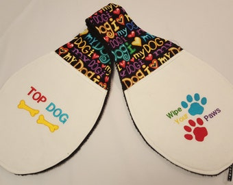 Personalized Dog Paw Towel - Cleans your dogs paws!