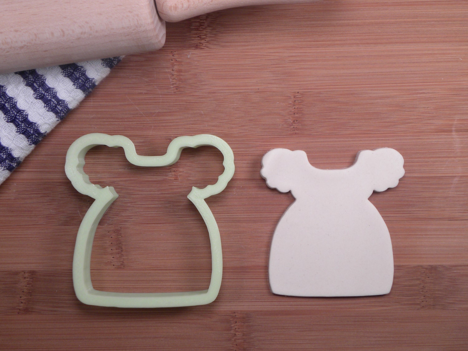 babydoll dress cookie cutter baby shower cookie cutter 3d