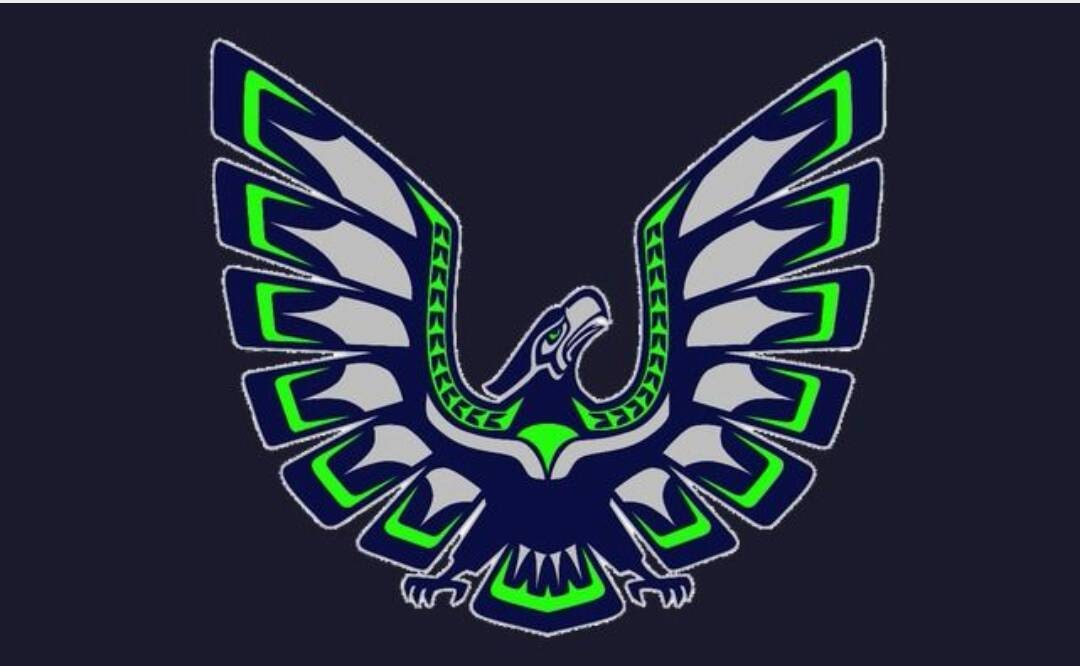 Seahawk hoodies native hawk jpg 1080x666 Native seahawk emblem sweatshirt eabcd8373