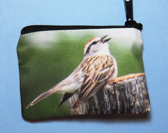 Chipping Sparrow Coin Purse