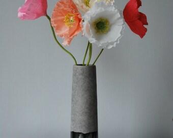 Single Stem Paper Poppy / Paper Flowers / Paper Anniversary / Wedding Flowers