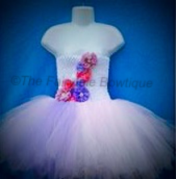 Flower Girl Tutu Dress. Handmade and Unique Custom Orders,
