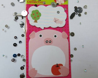 SALE Pig post it note, Animal sticky notes, Planner Supplies