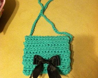 Hand Crochet Cross Body Bow Bag