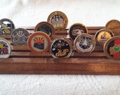 Military Challenge Coin Rack