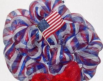 Handmade Fourth of July Wreaths