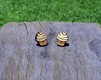 Cupcake Timber Earrings