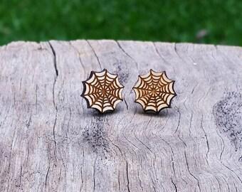 Web Timber Earrings