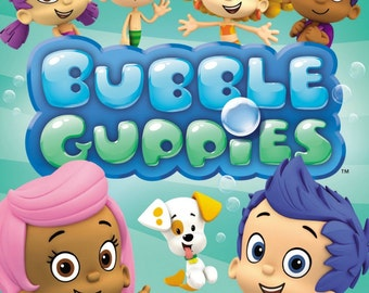 BUBBLE GUPPIES  Iron On Transfer.A5 Size.