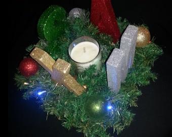Xmas Centre Piece Candle Holder