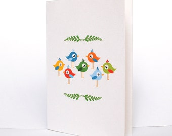 "Card ""Birds"""