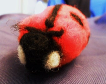 Needle Felted Wool Ladybug Pincushion