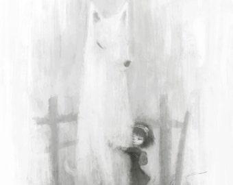 Sausage Wolf Art Print