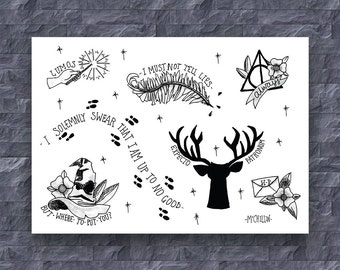 Harry Potter A4 Art Print