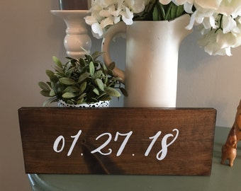 Wooden Wedding Date Sign