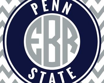 Penn State Monogram Frame Cutting Files, Svg, Eps, Dxf, Png for Cricut & Silhouette | Nittany Lions Vector | College Sports Vector Graphics