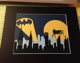 Papercraft Batman Art Print