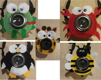Crochet Camera Lens Buddies