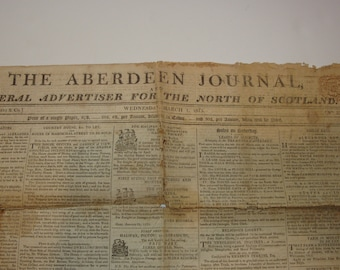 The Aberdeen Journal - General Advertiser for the North of Scotland ~ 1815