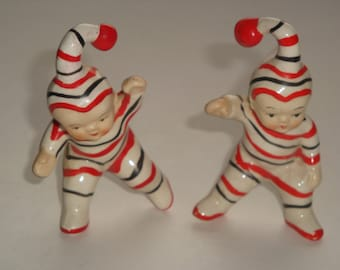 Vintage Japan Night Time Children Salt & Pepper Shakers