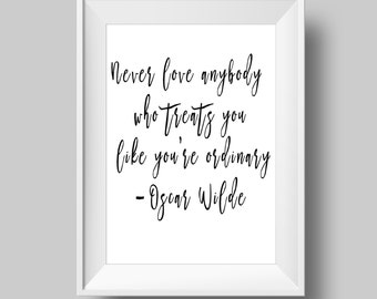 Oscar Wilde Quote - Printable Poster