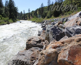 16x20 photo print of the Truckee River on high gloss or luster paper
