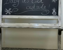 Chalkboard coat rack / kitchen rack