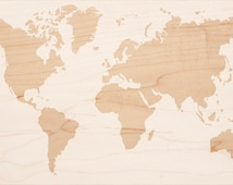 DIY World Map Stencil XL - plastic (not a sticker).  for wood/ home design/ home decor applications
