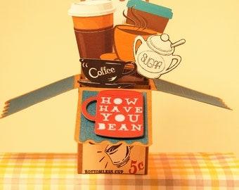 Custom 3D Box greeting card, Just because card