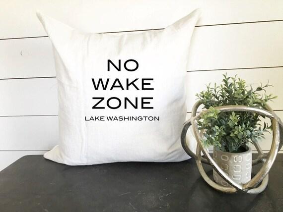 No wake zone pillow 18 x 18 home decor cushion throw for Home decor zone
