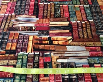 Timeless Treasure Library Fabric books  by the half yard