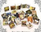 28 Fairy Tales Dollhouse Miniature Book Cover Set 5 –28 FAIRY TALES Vintage Story Book Cover - 1:12 Printable Dollhouse Book Cover DOWNLOAD