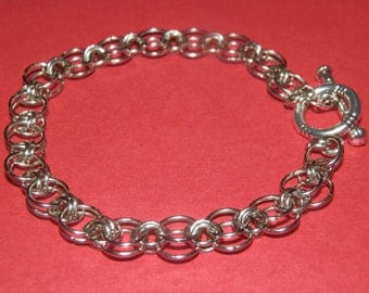 Chainmaille 'Helm Weave' bracelet