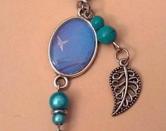 Silver cabochon bracelet
