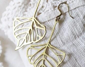 Leaf Earring / Linen Jewelry / Style Earrings / Everyday Jewelry / Jewelry
