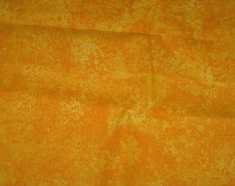 Yellow Batik Fat Quarter Fabric by the Yard Fat Quarter 100% Cotton Fabric.