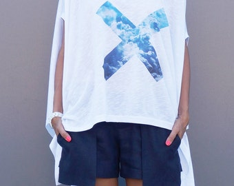 Loose white tunic 0337 AA12451