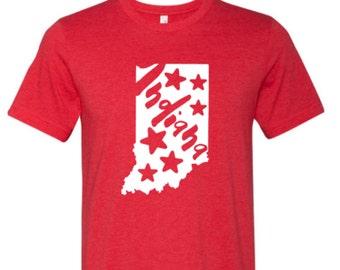 Indiana Home shirt, Indiana shirt, Red Indiana shirt, Home shirt, Indiana outline, Made by Enid and Elle