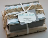 Country Cabin scented Handmade Soap and Wooden Soap Plank