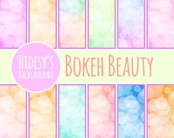 """Glowing Lights Digital Paper / Background / Pattern """"BOKEH BEAUTY"""""""