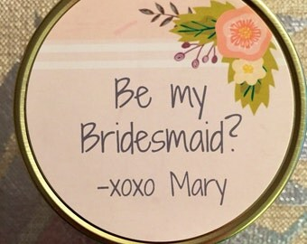 Will You Be My Bridesmaid Candle, 4oz, 8oz, 16oz, Mason Jar, Soy, Customized, handmade