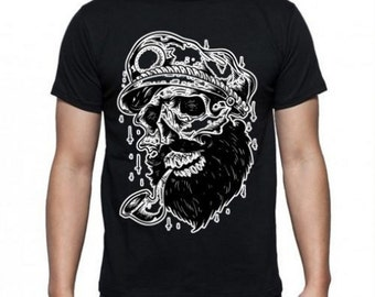 Black Sailor Skull Tee shirt.