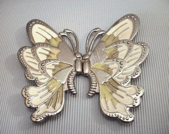 "Large belt buckle ""Butterfly"" original from the 80s"