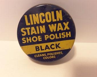 Vintage shoe Polish tin
